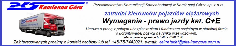 PKS Kamienna Góra - kierowcy ciężarówek